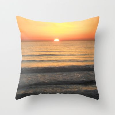 Sunset Surf  Throw Pillow