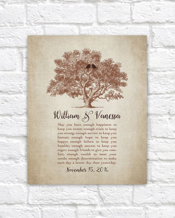 Wedding Gift Tree Poem : wedding gifts for bride and groom from friends wedding toast vows poem ...