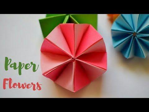 Easy Paper Flowers Simple Paper Flower Craft Diy Flowers From
