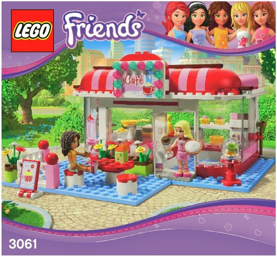 Fabuleux LEGO City Park Cafe Instructions 3061, Friends | Lego Instructions  VB76