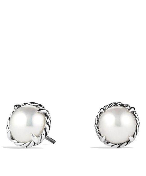chatelaine pearl stu  chatelaine pearl studs