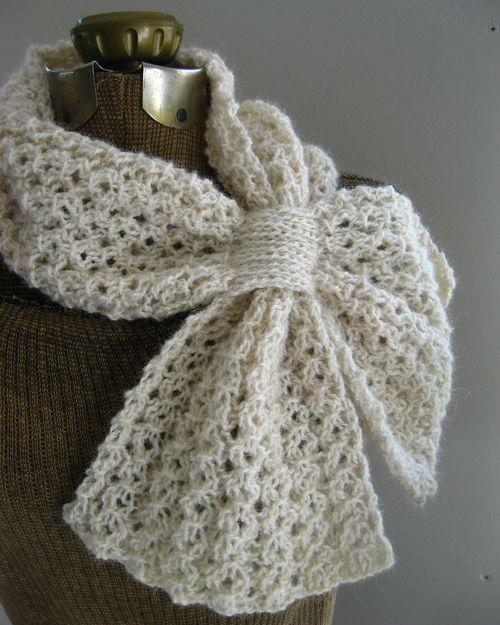 We Like Knitting: Loopy Lace Scarf - Free Pattern