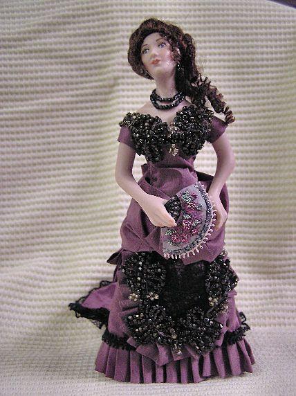 antique beadwork appllied