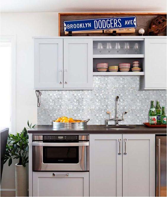 glass mosaic tiles kitchen backsplash and kitchen