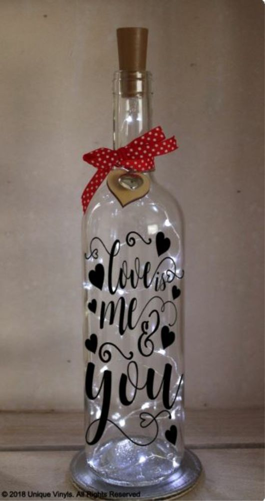 Wine Bottle Vinyl Decal Sticker Believe In Magic Unicorn Light Home Garden Jars