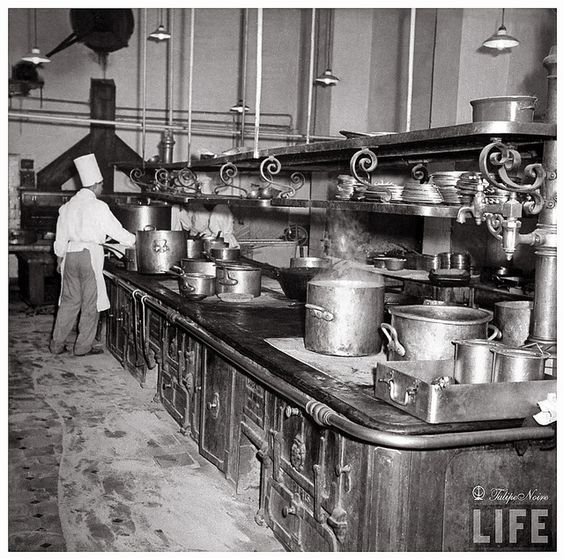 island for kitchens interior of the kitchen at shepheard s hotel in 1942 1942