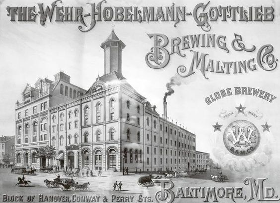 Painting of Wehr-Hobelmann-Gottlieb, an 1881 Maryland malt house and brewery that later became Globe Brewing Company. Courtesy David Donovan Collection. Photo by Edward Brown. Read more at http://tinyurl.com/7bm2v4p: Vintage Images, Google Image, Globe Brewing, Globe Brewery, Collection Photo, Gottlieb Globe, Breweries Painting
