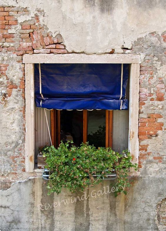 Italy Window #11 18 x 24 Giclee Canvas/Gallery Wrapped with image on sides Please allow about 3 weeks for delivery Shipping included in price-$175 http://www.riverwindgalleryart.com/jay-hill-italy.html