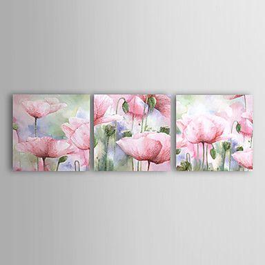 Kaufen Handbemaltes Blumen Ölgemälde mit gestreckten Rahmen - 3 Teile mit Günstigste Preis und Gute Service!