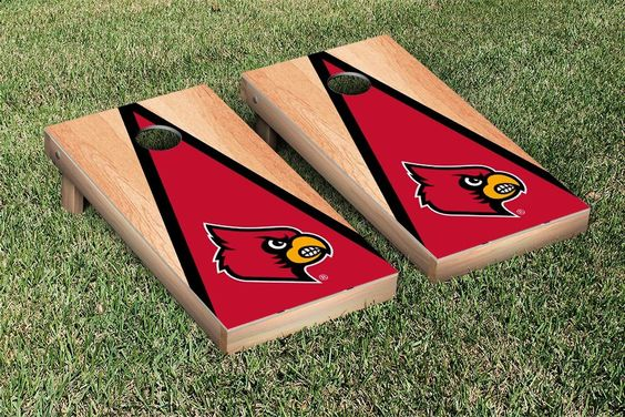 Louisville Cardinals Triangle Hardcourt Cornhole Bag Toss Game