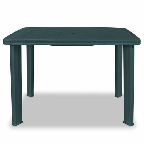 Dartmouth Plastic Dining Table Sol 72 Outdoor Colour Green In