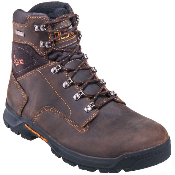 Danner Boots Men's 12433 Waterproof EH Brown 6-Inch Slip-Resistant ...