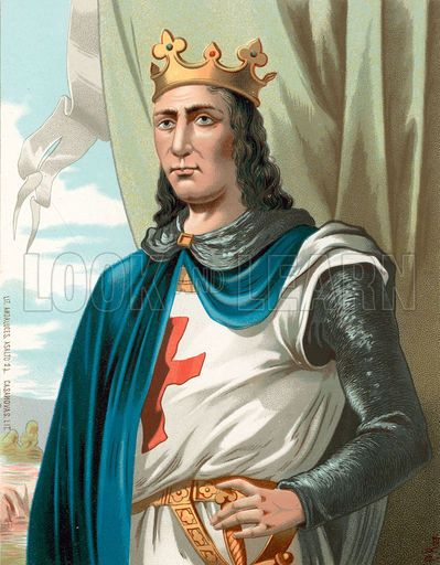 Louis IX (25 April 1214 – 25 August 1270), commonly known as Saint Louis, was King of France from 1226 until his death. He banned trials by ordeal, tried to prevent the private wars that were plaguing the country and introduced the presumption of innocence in criminal procedure. In 1297 Pope Boniface VIII proclaimed his canonization - Louis IX is the only one French monarch to be declared as saint.