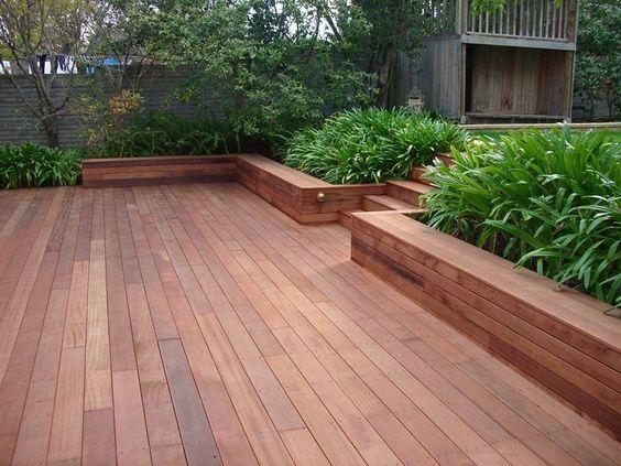 Merbu Deck with Planter box's by Leisure Decking Timber Decking Melbourne - LEISURE DECKING , Carpenter, Ferny Creek, VIC, 3786 - TrueLocal