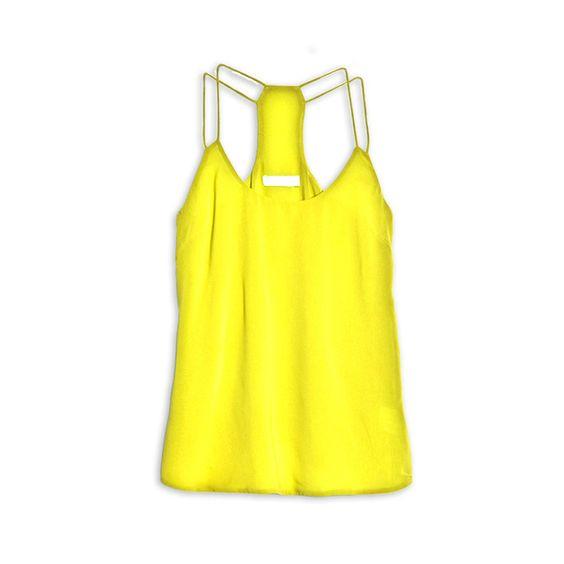 Fab.com | Double Strap Tank Yellow