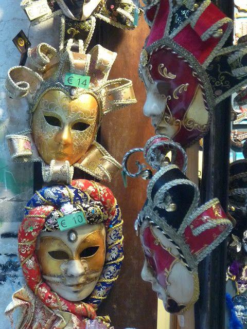 Venetian Masks worn during Carnival