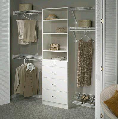 Ideas de closet. Ahorrar espacio