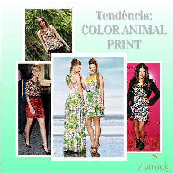 Tendência: color animal print