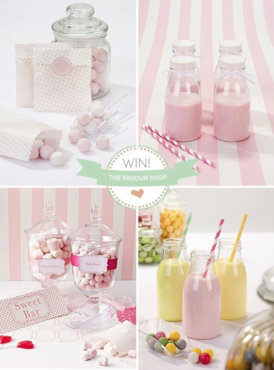 The Favour Shop Competition Pink and White Wedding DIY