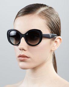 Oval Cat-Eye Sunglasses