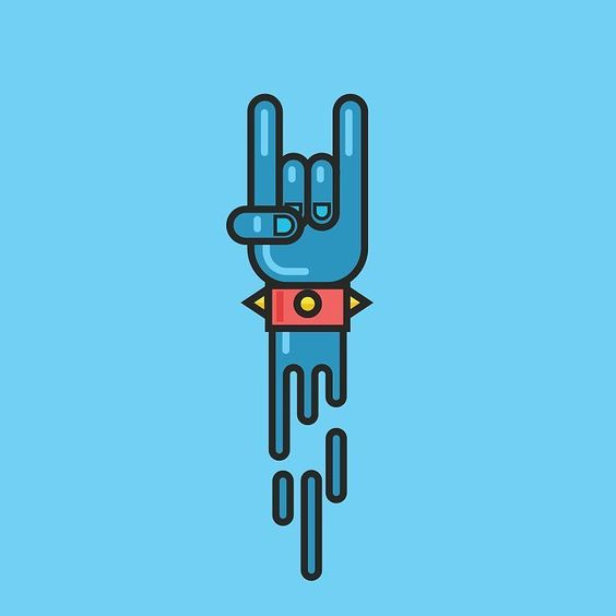 Have a rocking weekend!!! #icon #iconaday #icondesign #illustration #thedesigntip #graphicdesign #hand