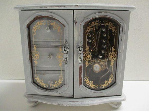 Jewelry box / vintage jewelry armoire / by cgraceandcompany