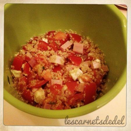 Salade d'été : quinoa, tomates, fêta .. - les carnets de Del