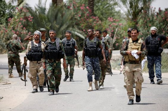 Schiitische Milizionäre am Stadtrand von Falludscha: Ohne die von Iran...