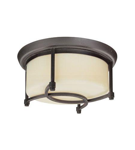 Troy Lighting Redmond 2 Light Flush Mount in Federal Bronze C1802FBZ #lightingnewyork #lny #lighting
