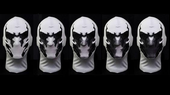 Watchmen: Masque Rorschach avec Animation Taches d'Encre (Video)