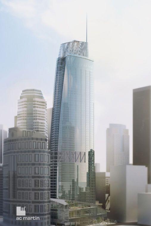 The Wilshire Grand Tower cao 335m (1100 ft) đang được xây dựng ở Financial District, Los Angeles. Sau khi hoàn thành vào năm 2017 tòa tháp n...
