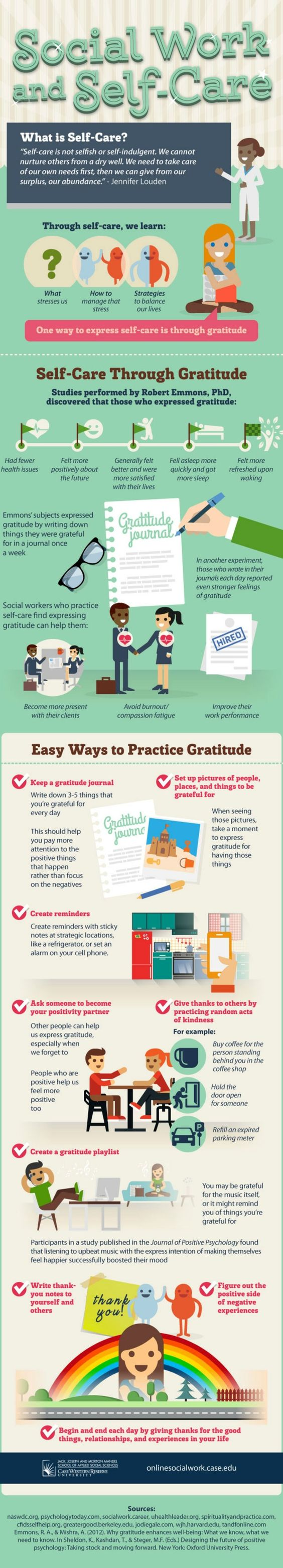 Infographic: Self-Care Through Gratitude http://www.yoganonymous.com/infographic-self-care-through-gratitude via @yoganonymous: