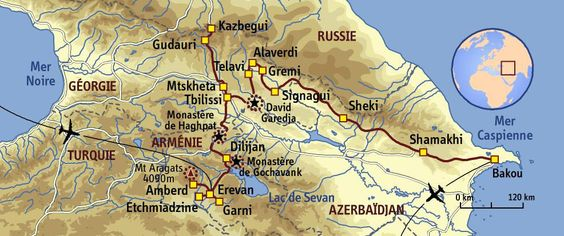 carte Armenie - Absolut Caucase
