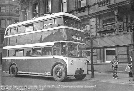 Trolley bus Derby 1937