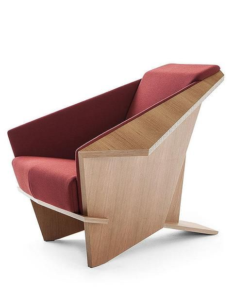 Frank Lloyd Wright Taliesin Origami Chair Wool Fabric Upholstery Wright Furniture Plans Frank Lloyd Wright Furniture Iconic Furniture Design