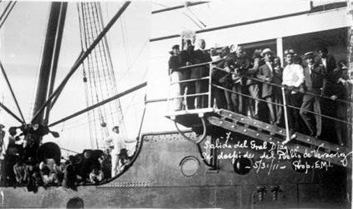 Porfirio Díaz a bordo del Ipiranga | Flickr: Intercambio de fotos