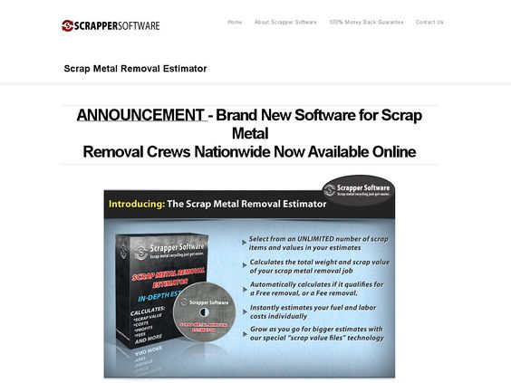 [Get] Scrap Metal Removal Estimator - Killer Software In Recycling Niche! - http://www.vnulab.be/lab-review/scrap-metal-removal-estimator-killer-software-in-recycling-niche