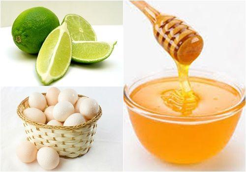 Chanh, mật ong, trứng gà cung cấp nhiều dưỡng chất cho da