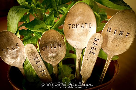 Lovely garden tags availalbe at BoHo Flea and Farmers Market 3/24 in Phoenix