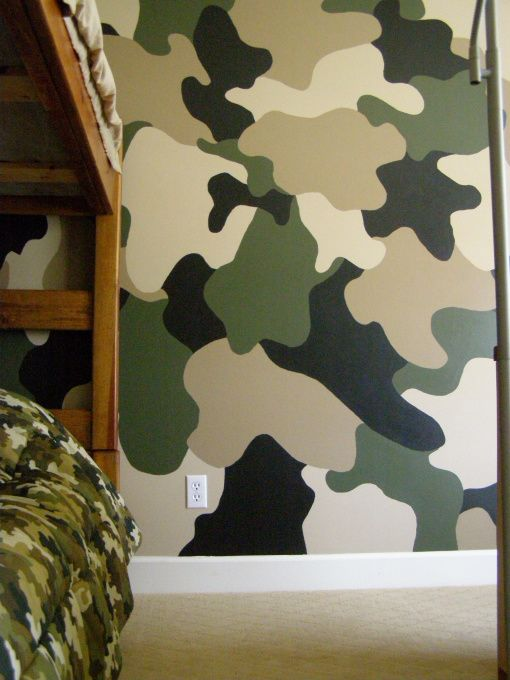 Jerods Camo room!, My 7 year old wanted a