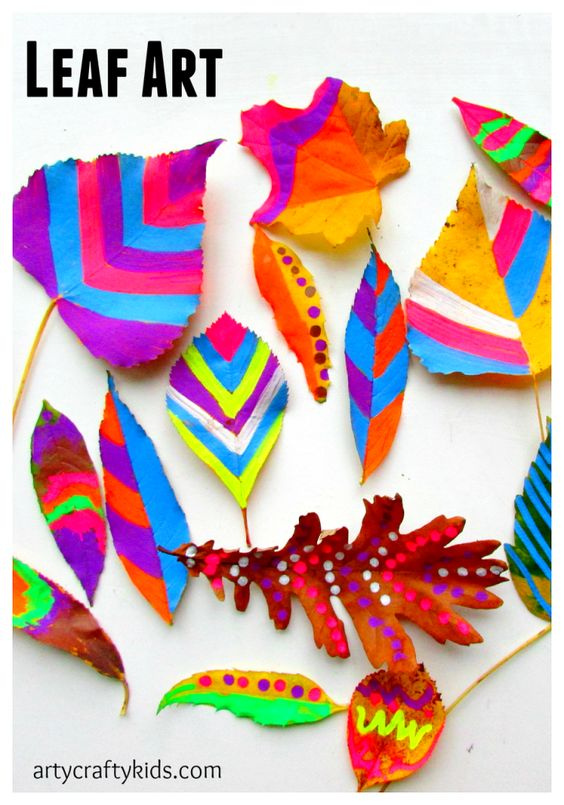 Arty Crafty Kids - Art - Art Ideas for Kids - Leaf Chalk Art: