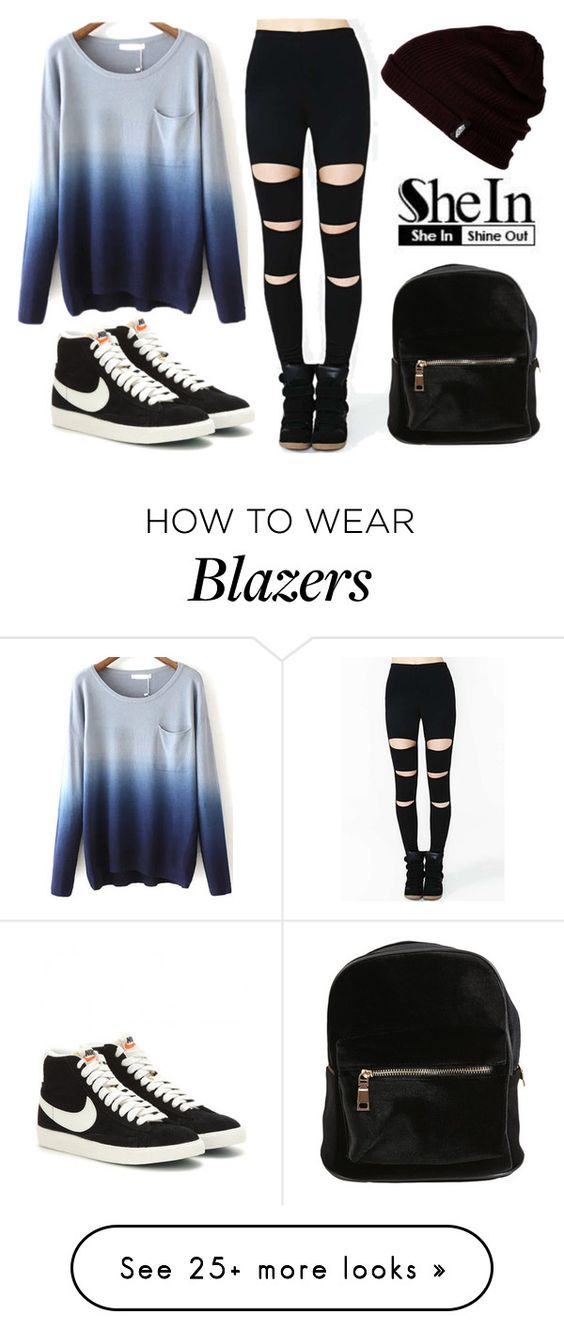 """""""shein"""" by aifosfromvenus on Polyvore featuring Vans and NIKE"""