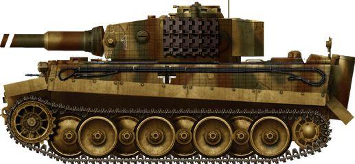 Tiger Ausf E Verladekette, Tiger Ausf. E with Verladekette (transport narrow tracks).