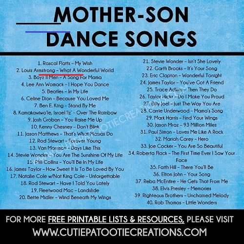 Mother Son Dance Songs For Mitzvahs And Weddings Free Printable List Firstdancesongs Pl In 2020 Mother Son Dance Songs Mother Son Dance Mother Son Wedding Dance