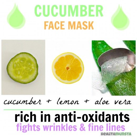 Combine aloe vera, cucumber and lemon juice to create a cooling anti-oxidant rich face mask, specially targeted for dull and aging skin.