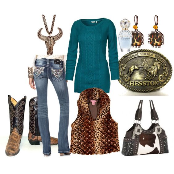 """""""Going to the Rodeo in Animal Prints"""" by kristina-briggs on Polyvore"""