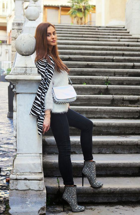 Into the groove fashion blog By Marie Zamboli: BE MY VALENTINE: Tacchi killer da sogno, cappottino in zebrato e borsa metallizzata lucida ar...