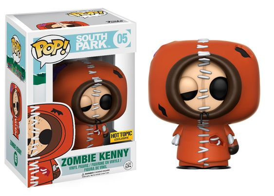 Pop! TV: South Park The massively popular animated show South Park is coming to Pop! vinyl! This series features the morally-questionable Cartman, naïve Butters, tiny Canadian Ike Broflovski, and the vigilante Mysterion! You can also collect Zombie Kenny, available exclusively at Hot Topic! Coming this winter!   Coming in February!