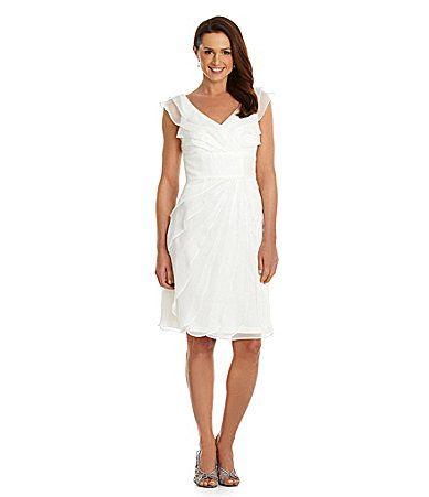 Adrianna Papell Tiered Chiffon Dress #Dillards   Ryan and Beth\'s ...