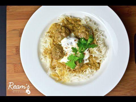 Kashmiri Kofta كفتة كشميرية لحم مفروم بصل مقطع صغير بهارات كمون مائلا كزبرة ناشفة زبادي Recipes Food Rice